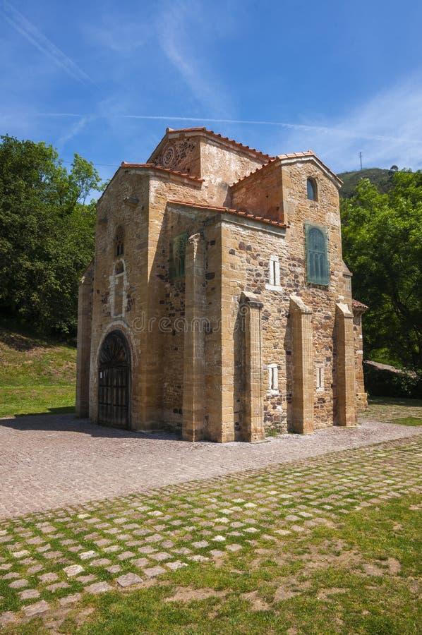 圣米格尔火山de利洛,前罗马式教会,世纪IX 库存图片