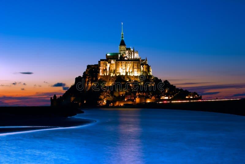 圣米歇尔山在诺曼底,法国 免版税库存照片