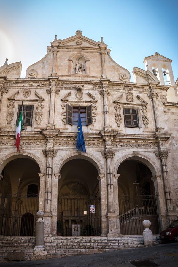 圣米谢勒教会外部在卡利亚里,撒丁岛 库存照片