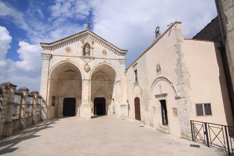圣米谢勒阿尔坎杰洛comune monte桑特'安吉洛福贾意大利圣所  免版税库存照片