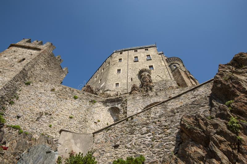 圣米谢尔Pedmont的意大利修道院骶骨 免版税库存图片