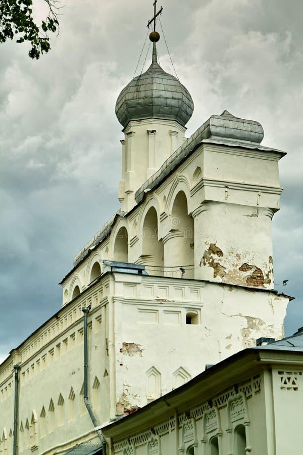 圣索菲娅大教堂钟楼 假定招标veliky教会的novgorod 免版税库存照片