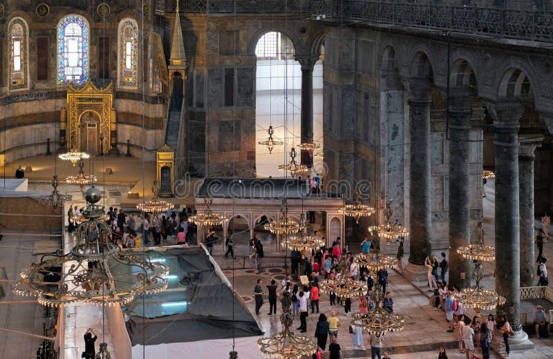圣索非亚大教堂博物馆的内部看法在伊斯坦布尔 库存照片