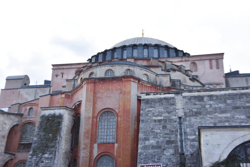 圣索非亚大教堂,著名教会,伊斯坦布尔在土耳其 免版税库存照片