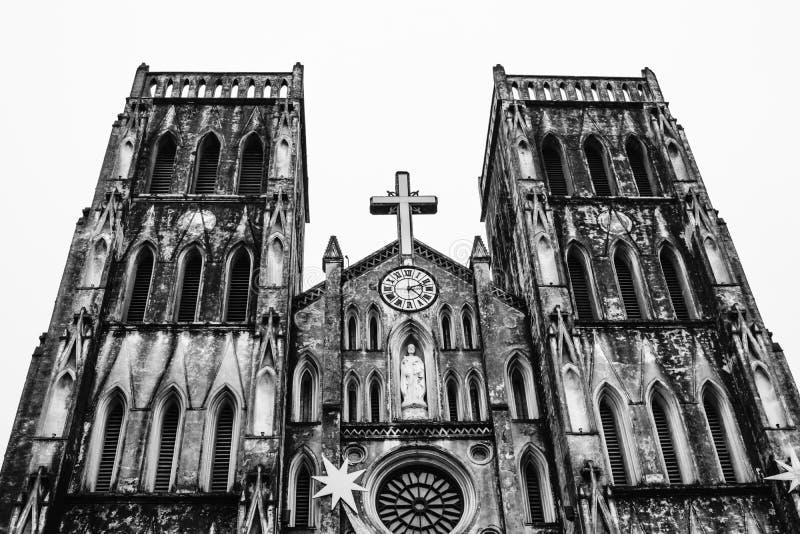 圣约瑟夫's大教堂在河内,越南 免版税库存图片