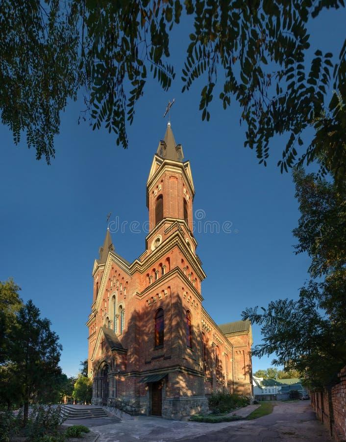 圣约瑟夫天主教会在尼高拉夫,乌克兰 图库摄影