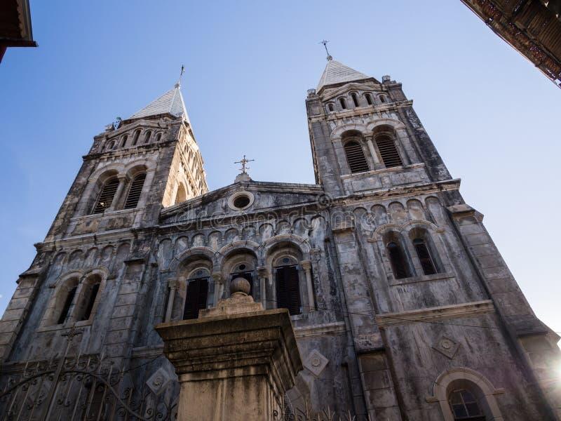 圣约瑟夫的宽容大教堂在桑给巴尔石头城在桑给巴尔 图库摄影