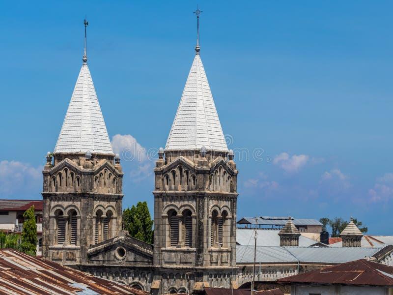 圣约瑟夫的宽容大教堂在桑给巴尔石头城,桑给巴尔 库存照片