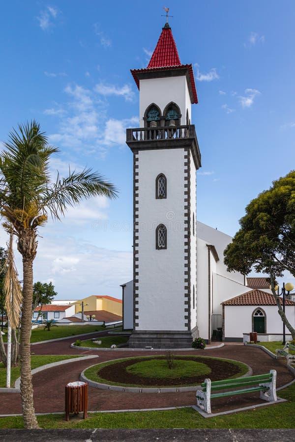圣约瑟夫的教会在Salga,圣地米格尔海岛,亚速尔群岛 库存图片