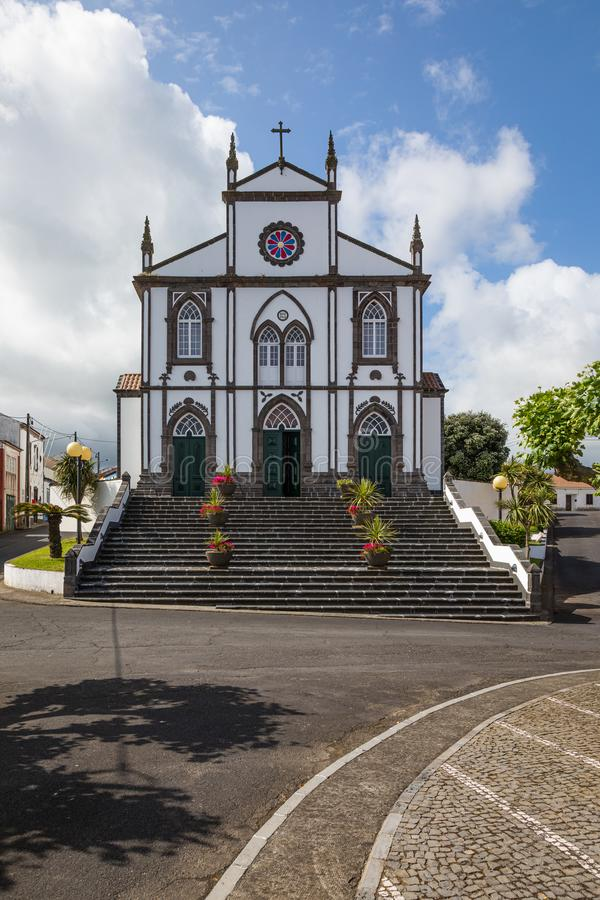 圣约瑟夫的教会在Salga,圣地米格尔海岛,亚速尔群岛 免版税图库摄影