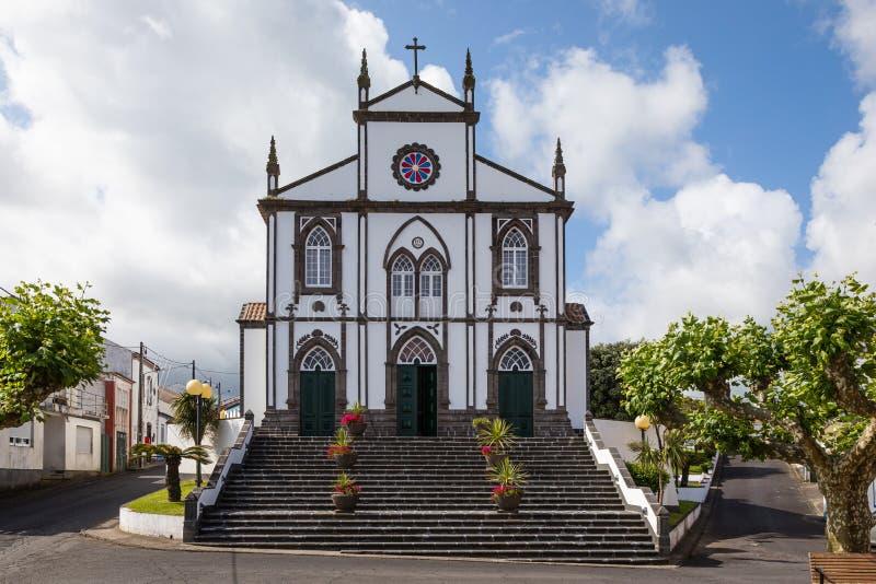 圣约瑟夫的教会在Salga,圣地米格尔海岛,亚速尔群岛 免版税库存图片