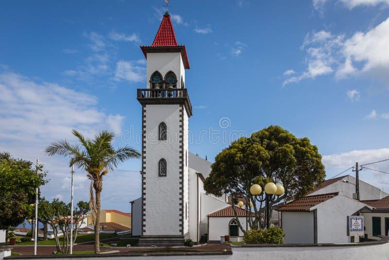圣约瑟夫的教会在Salga,圣地米格尔海岛,亚速尔群岛 库存照片