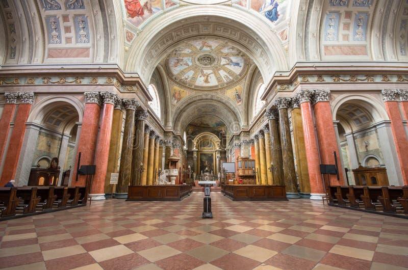 圣约翰大教堂,埃格尔,匈牙利内部  免版税库存图片