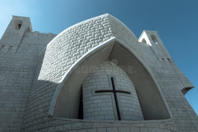 圣约翰希腊东正教浸礼会教友 库存图片