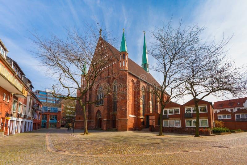 圣约翰教会在Schnoor,布里曼,德国 免版税库存照片