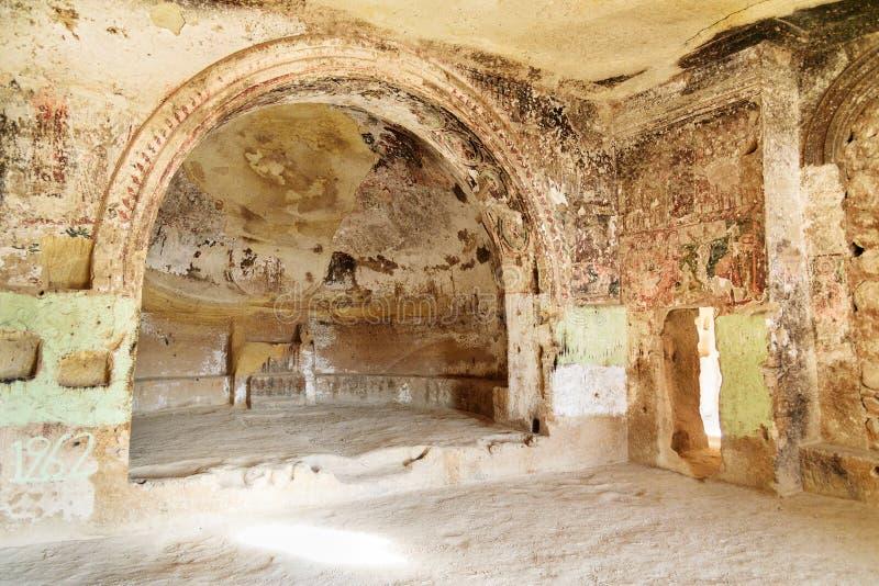 圣约翰教会浸礼会教友在Cavusin cappadocia 火鸡 库存照片