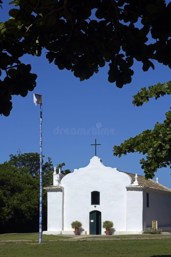 圣约翰教会浸礼会教友在Trancoso巴伊亚 库存照片