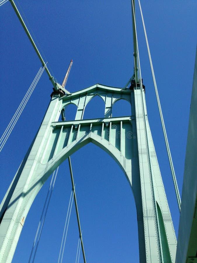 圣约翰斯桥梁波特兰俄勒冈 免版税库存照片
