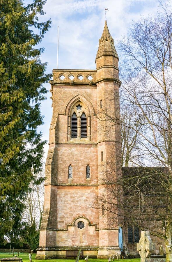 圣约翰施洗约翰教堂,希普顿莫因,格洛斯特郡 免版税库存图片