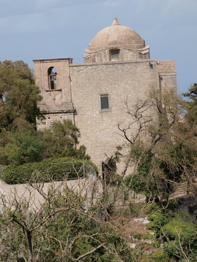 圣约翰施洗约翰教堂,埃里切,西西里岛,意大利 免版税库存照片