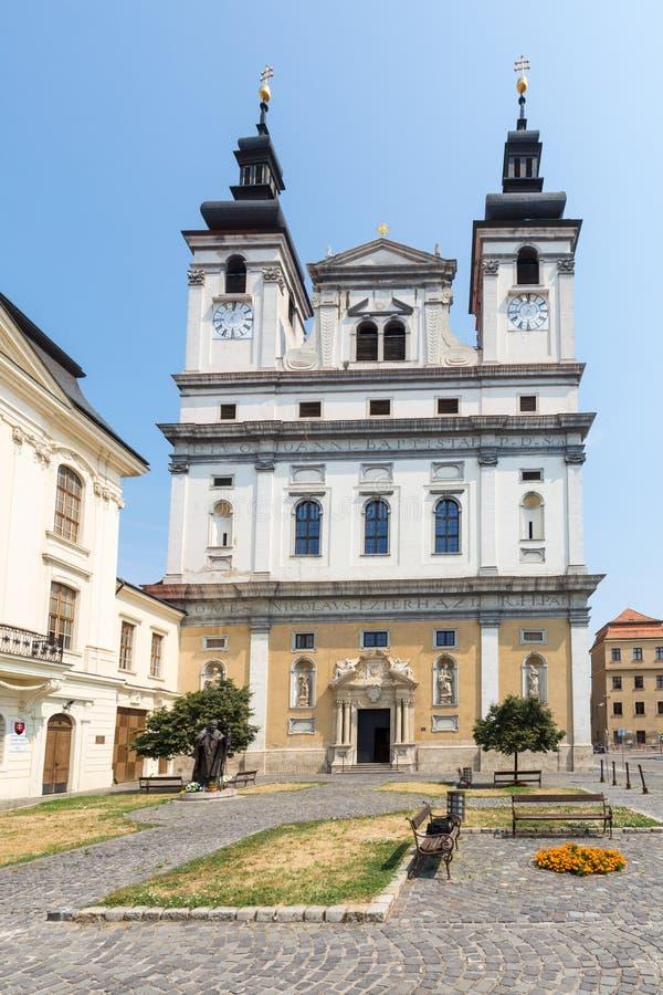 圣约翰浸礼会教友大教堂在Trnava 免版税图库摄影
