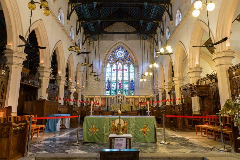 圣约翰的大教堂在香港 免版税库存照片