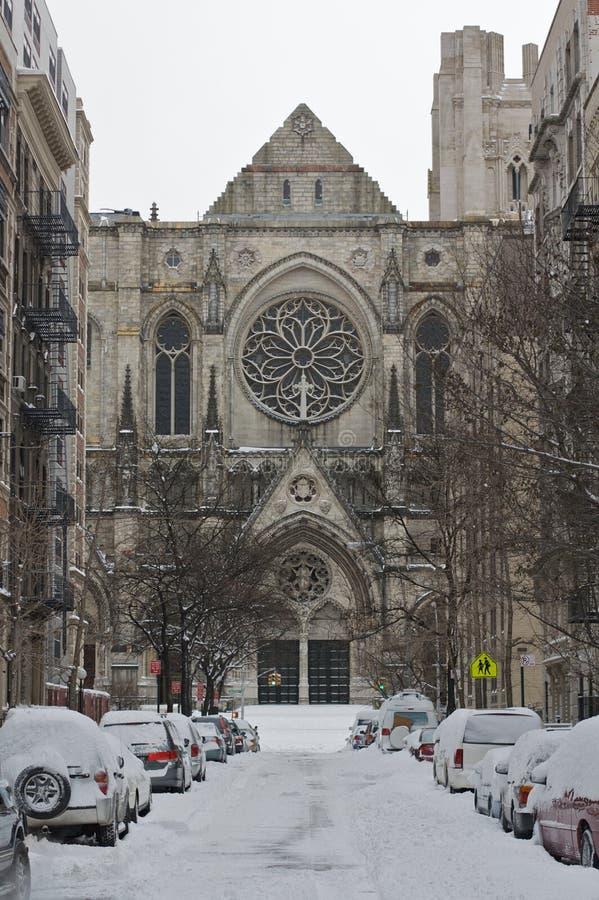 圣约翰的大教堂-冬天 免版税库存照片