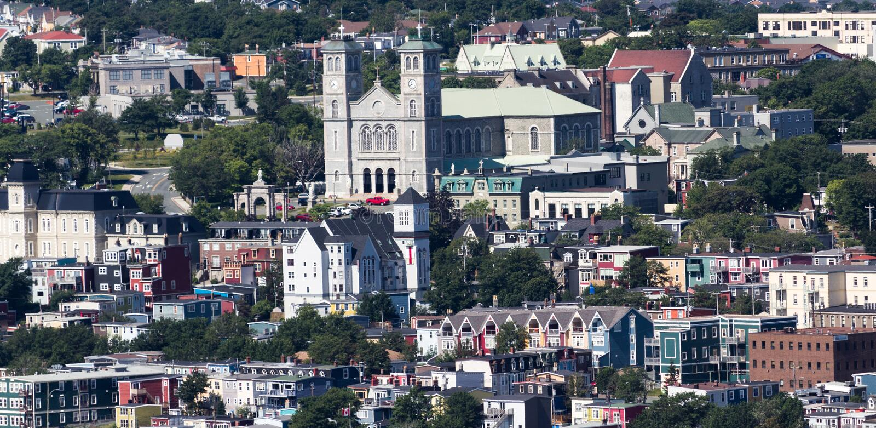圣约翰的纽芬兰都市风景  库存图片