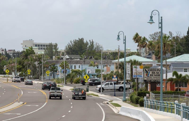 圣约翰的通行证村庄,佛罗里达,美国 免版税库存照片