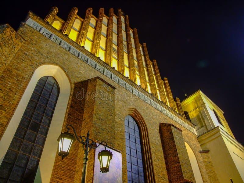 圣约翰的Archcathedral教会在华沙在波兰 免版税库存照片