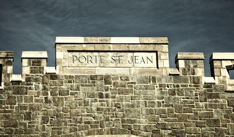 圣约翰门在魁北克市 库存照片