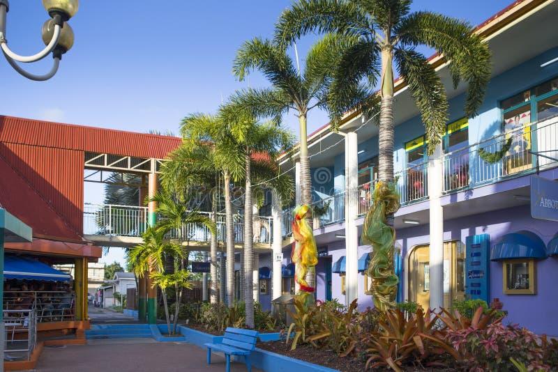 圣约翰& x27街市; s,安提瓜岛 免版税图库摄影