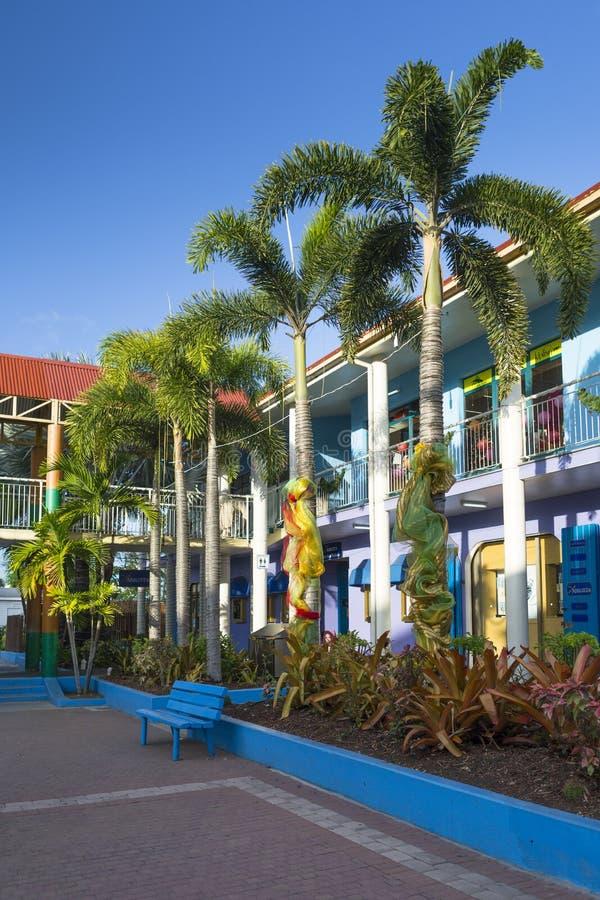 圣约翰& x27街市; s,安提瓜岛 免版税库存照片