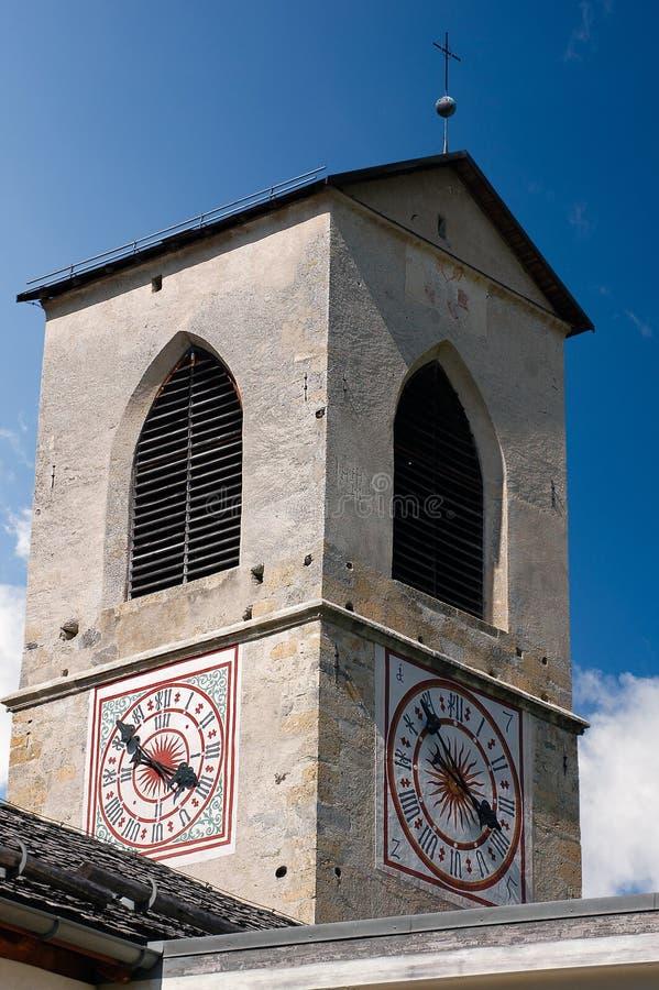 圣约翰- Mustair瑞士女修道院  库存图片