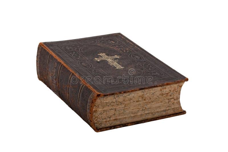 圣经书葡萄酒白色 库存图片