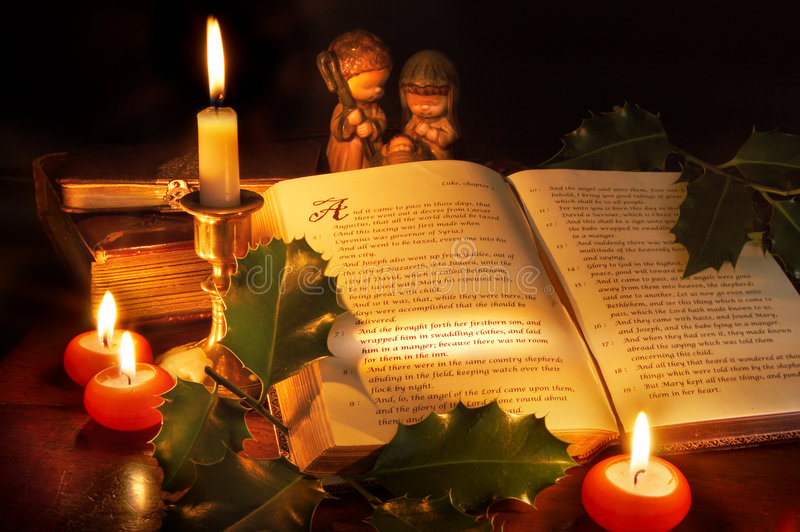 圣经圣诞节 免版税图库摄影