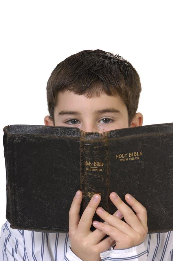圣经男孩 库存图片