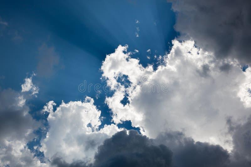圣经的云彩 库存图片