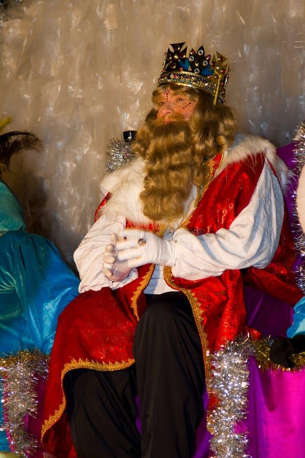 圣经的白肤金发的国王魔术家 免版税图库摄影