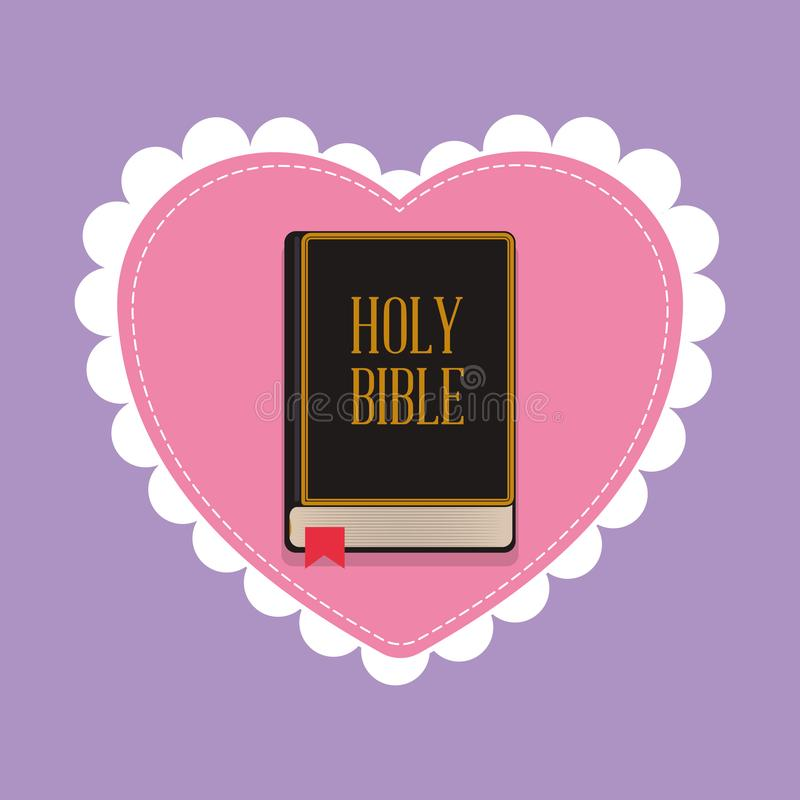 圣经神圣的书保佑的婚礼 皇族释放例证