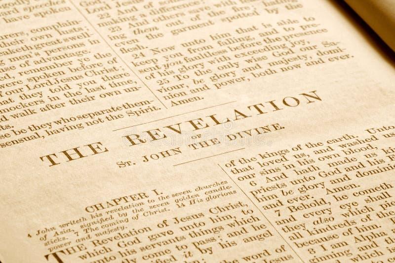 圣经老揭示 免版税库存照片