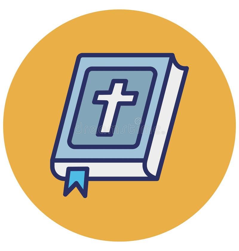 圣经,圣经的书隔绝了可能容易地修改或编辑圣经的传染媒介象,圣经的书能eas的被隔绝的传染媒介象 库存例证