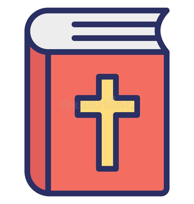 圣经,圣经的书隔绝了可能容易地修改或编辑的传染媒介象 库存例证