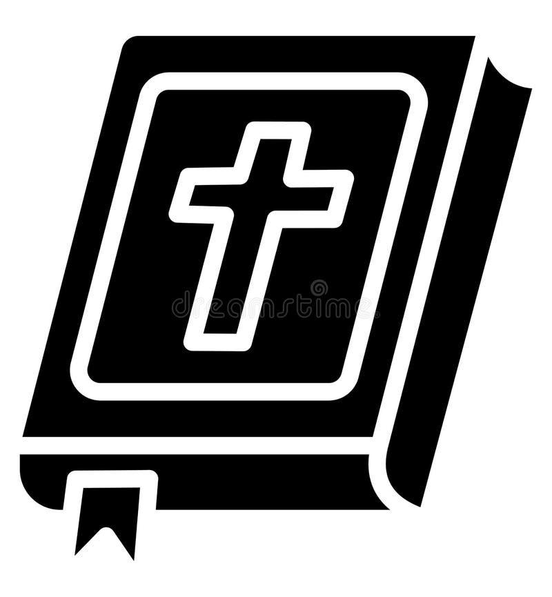 圣经,圣经的书隔绝了可能容易地修改或编辑的传染媒介象 向量例证