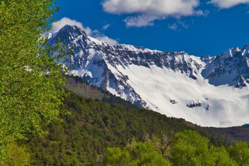 圣胡安山在5月 免版税库存照片