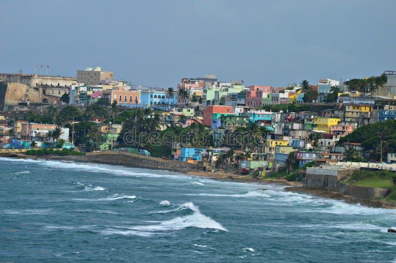 圣胡安波多黎各的许多颜色 免版税库存照片