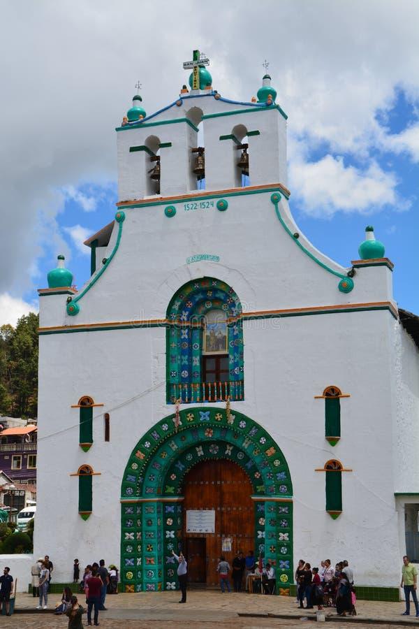 圣胡安Chamula教会恰帕斯州墨西哥 免版税图库摄影