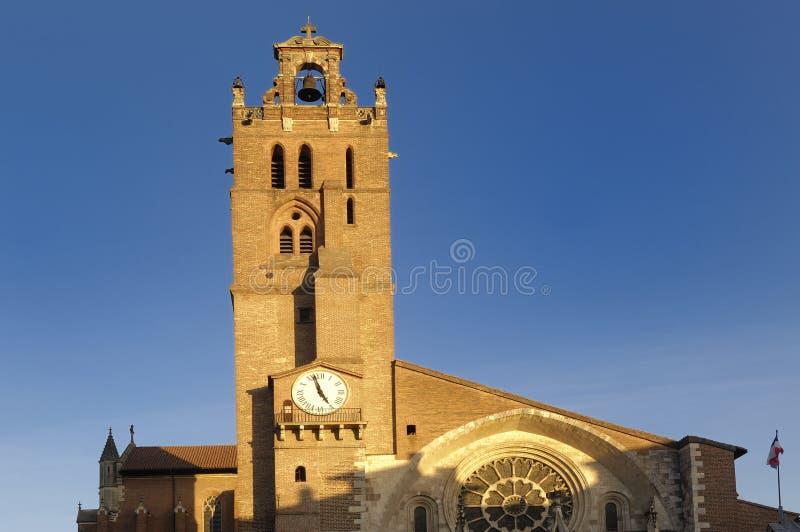 圣艾蒂安大教堂在图卢兹, 图库摄影