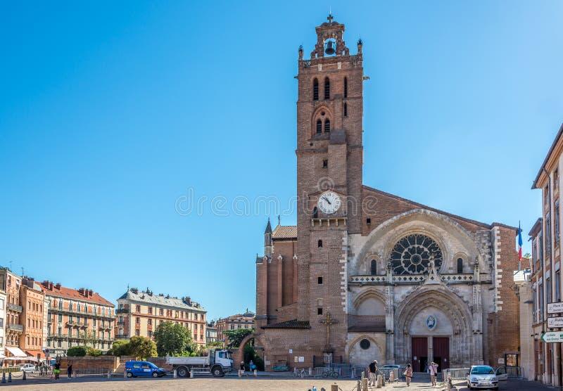 圣艾蒂安大教堂在图卢兹 免版税库存照片