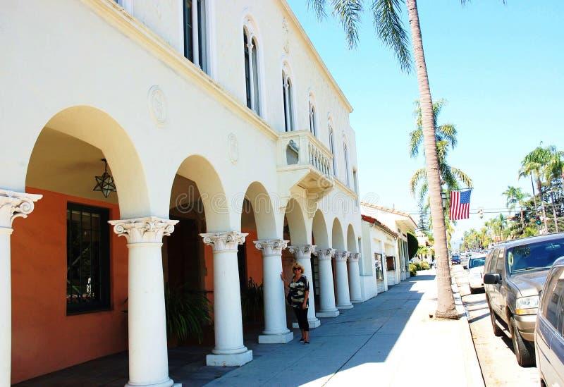 圣芭卜拉加利福尼亚美国街道吸引力 免版税库存照片